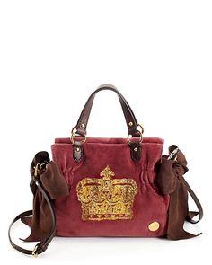 3c4b7321391b Juicy Vintage Crown Velour Miss Daydreamer Bag