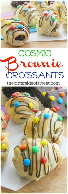 Cosmic Brownie Croissants | The Bitter Side of Sweet #puffpastry #brownie