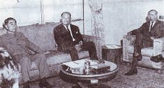 Chou En Lai with President Ayub Khan and Foreign Minister Z A Bhutto