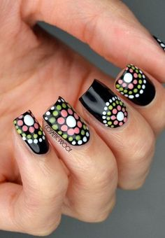 Since Polka dot Pattern are extremely cute & trendy, here are some Polka dot Nail designs for the season. Get the best Polka dot nail art,tips & ideas here. Dot Nail Art, Polka Dot Nails, Striped Nails, Nail Art Diy, Easy Nail Art, Diy Nails, Cute Nails, Polka Dots, Leopard Nails