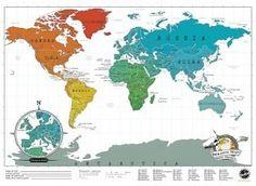 Scratch Map Travel Edition. Kras de gouden laag weg als je in dat land bent geweest zodat je perfect in beeld krijgt waar in de wereld je geweest bent. #wereldkaart #landkaart #scratchmap #reiscadeau #cadeau #reizen #wereldreis
