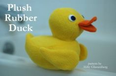Plush Rubber Duck pattern for sale | YouCanMakeThis.com
