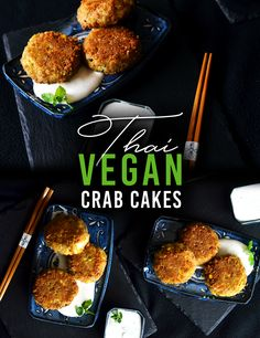 Thai Vegan Crab Cakes.  Check out the new recipe on the blog : http://www.thehungryherbivores.com/vegan-thai-crab-cakes/