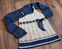 free crochet baby dress patterns | Crochet Dress with Bolero