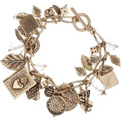 Mixed Vintage Gold Charms Bracelet