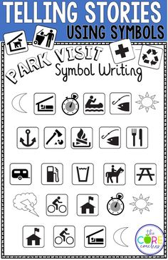 Try telling stories using symbols! A creative way for students to write a story! We used this with symbols found in National parks. One of MANY lessons in this bundle!