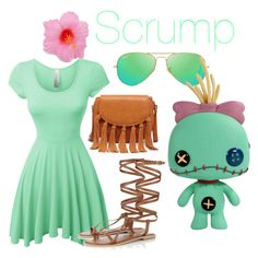 """""""Disney Bounding: Scrump (Classy)"""" by kell-bell-21 on Polyvore featuring LE3NO, Lipsy, Sole Society, Ray-Ban and Disney"""