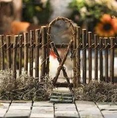 Woodland Twig Garden Fence - Fairy Garden Miniatures - Dollhouse Miniatures - Doll Making Supplies - Craft Supplies #miniaturegardens