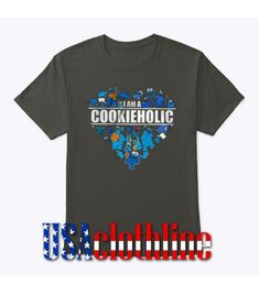 About I Am Cookieholic - Cookie Monster Heart T-shirt.This T-shirt is Made To Order, we print one by one so we can control the quality. We use DTG Technology to print. Barcelona Fc Logo, Cookie Monster, Direct To Garment Printer, Screen Printing, Size Chart, Heart, Mens Tops, T Shirt, Screen Printing Press