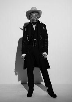 "concretecoffincorporation: ""TakahiroMiyashitaTheSoloist A/W 15 ""INTRO"" Masks by Shin Murayama "" Unisex Fashion, Mens Fashion, Fashion Outfits, The Soloist, Fall Winter 2015, Winter Collection, Canada Goose Jackets, Style Me, Cool Outfits"