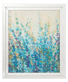 Shades of Blue I Mirror Framed Artwork