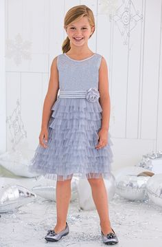 From CWDkids: Tiered Ruffles & Sequins Dress