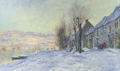 Lavacourt Under Snow - Claude Monet, 1871-1881. National Gallery, London UK. #Monet. Dublin pressures London to return priceless impressionist paintings Forthcoming Easter Rising celebrations in Ireland revives 100-year tussle over ownership of celebrated works by Renoir, Monet and Manet. Hugh Lane Gallery, 39 paintings in art collection was originally left to the National Gallery in London by the Cork-born art collector Sir Hugh Lane, who died on the Lusitania when it was sunk by a German…