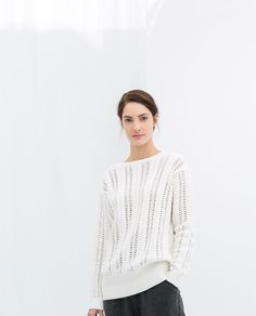 Image 2 of OPEN-WORK SWEATER WITH V-NECK BACK from Zara
