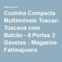 Cozinha Compacta Multimóveis Toscana com Balcão - 8 Portas 3 Gavetas - Magazine Fatimajoana