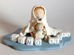 Baby Tortenfigur für die Taufe, Tauftorte oder als Geschenk zur Geburt Smurfs, Christmas Ornaments, Holiday Decor, Baby, Home Decor, Xmas Ornaments, Homemade Home Decor, Christmas Jewelry, Newborn Babies