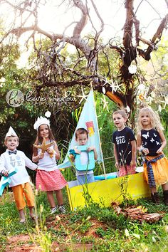 nautical themed props and clothes for kid photo shoot