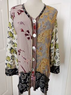 Authentic Nothing Matches Blouse Tunic Shirt Top Lagenlook Victorian Artsy Sz M   eBay