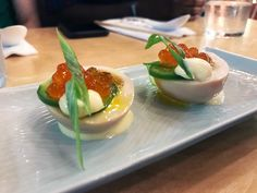 Holy nomster, you haven't had deviled eggs until you've tried this steam egg version at Haikan. These just blew our taste buds away with their punch. These little bites come packed with deliciousness and far more ingredients than you may expect. Ramen Restaurant, Chinese Restaurant, Dc Food, Food 52, Lunch Menu, Dinner Menu, How To Make Ramen, Steamed Eggs, Ice Cream Cookie Sandwich