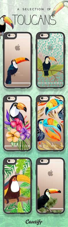 Tap this link to shop these adorable toucan phone cases: https://www.casetify.com/artworks/tzchoF2aP1 #animal | @casetify