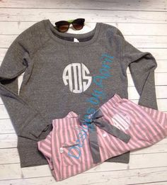 Monogrammed Sunglasses, Monogrammed Flee e Sweatshirt. Monogrammed Lounge pants, flannel pants by DesignsbyApril1234 on Etsy https://www.etsy.com/listing/197873312/monogrammed-sunglasses-monogrammed-flee