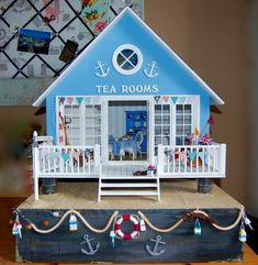 how to: furnishings for miniature beach cafe