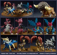 Commission : Pokemon Team - Turner Pack by emilySculpts on DeviantArt