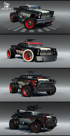 Battle Carzzz - Oldtimer by on DeviantArt Futuristic Cars, Car Drawings, Us Cars, Modified Cars, Armored Vehicles, Future Car, Amazing Cars, Bugatti, Custom Cars