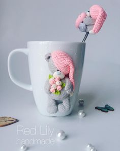 polymer clay mug Polymer Clay Cupcake, Polymer Clay Figures, Fimo Clay, Polymer Clay Charms, Polymer Clay Projects, Polymer Clay Art, Clay Crafts, Polymer Clay Jewelry, Diy And Crafts