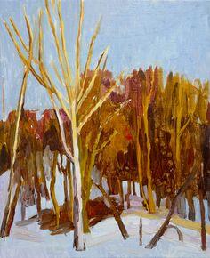 """Mykolé,""""Trees 2"""", 2013, 41 x 33 cm Oil, canvas. Contemporary landscape paintings."""
