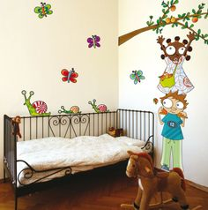 Deco idea nursery wall decor and proposals - Your Decoration Style Kids Room Wall Decals, Nursery Wall Stickers, Childrens Wall Stickers, Floral Wall Art, Flower Wall Decor, Contemporary Wall Decals, Stickers Design, Creative Kids Rooms, Girl Bedroom Walls