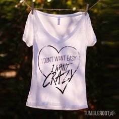 "Love this adorable ""I Want Crazy"" Hunter Hayes inspired music t-shirt"