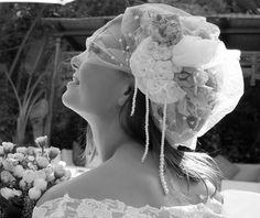Model: Luisa Costa Bloom Photography: Maria Vidal (Esenzaibizaphoto) Make up: Bela Marin Fascinator: Raquel Espada  Lace wedding dress