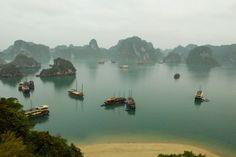 panorama halong bucht- vietnam reisen