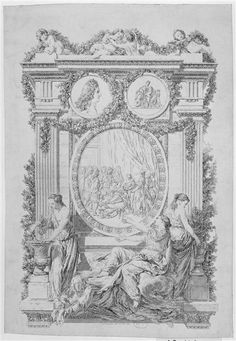 Accouchement (delivery) of Marie-Adelaide de Savoie, duchesse de Bourgogne (1685-1712), early 18th century, French engraving (Versailles)