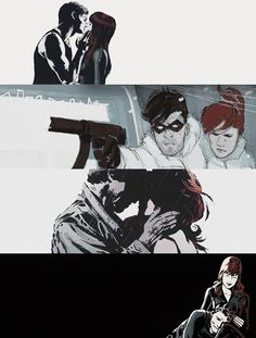 Black Widow + The Winter Soldier Winter Soldier Movie, Black Widow Winter Soldier, Marvel Fan Art, Marvel Dc, Marvel Comics, Bucky And Natasha, Avatar Zuko, James Barnes, Black Widow Natasha