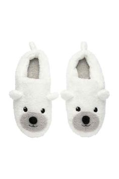 Pile slippers