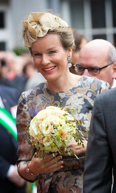 Queen Mathilde visiting Gent