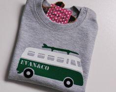 #Baby shirtje met #strijkapplicatie surfbus van www.bepenco.com