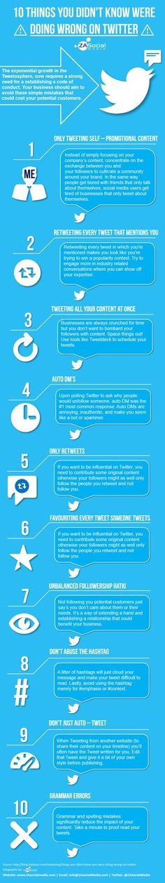 10 Things You Didn't Know You Were Doing Wrong on Twitter
