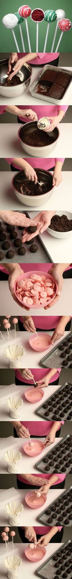 DIY - How to make cake pops, just like the ones sold at Starbucks, only, I suspect, cheaper.