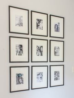 You don't have to be as perfectly matchy-matchy as this affordable gallery wall, but the idea's the same: having photos of people (or dog!) you love in your living space is a no-brainer! Read how she did this gallery wall on a budget on Designing Vibes.