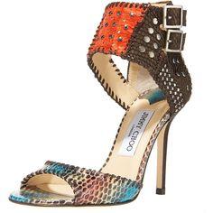Mixed-Media Sandal