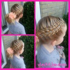 zipper braid #cutegirlshairstyles #cutehairstyles #braidsforgirls #braids
