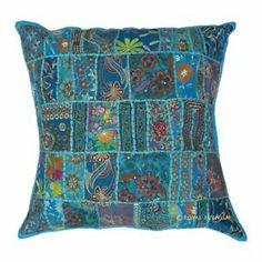 Brand New Cool Blue Color Throw Toss Pillow