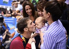 Pin for Later: The 6 Most Memorable Family Moments From the Olympics When Boomer Phelps got a kiss from his daddy.