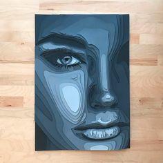 Layered Paper Portraits by Shelley Castillo Garcia - Inspiration Grid Polygon Art, Paper Illustration, Identity Art, Cool Art Drawings, Portrait Art, Portraits, Sculpture Art, Paper Art, Art Projects