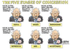 RJ Matson - Roll Call - Bernie Sanders and the Five Stages of Concession-COLOR - English - Bernie Sanders and the Five Stages of Concession, Bernie, Sanders, 2016, Presidential, Race, Democratic, party, Nomination, Democrat, Five, Stages, Grief, Concession, Concede