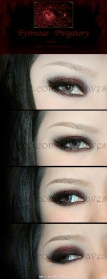 Vampire smokey eye makeup