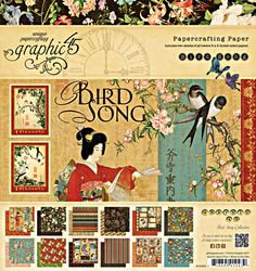 Graphic 45 - Bird Song Collection - 8x8 Paper Pad